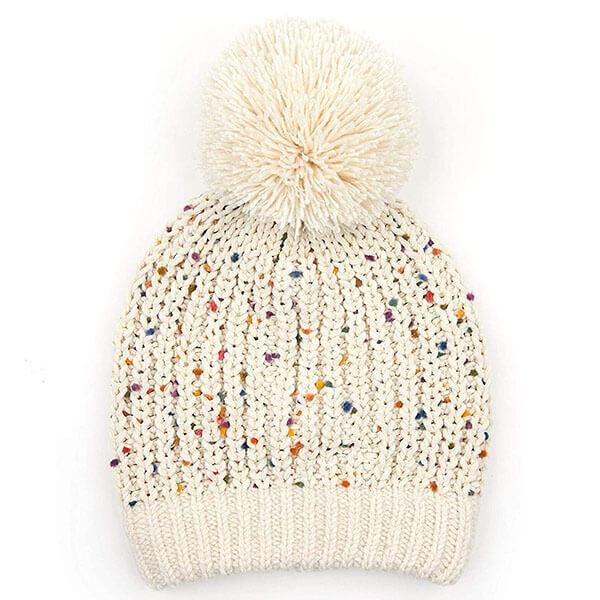 Confetti Knit Beanie For Girls