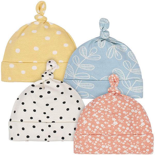 Baby Girl's Organic Cap 4 Pack