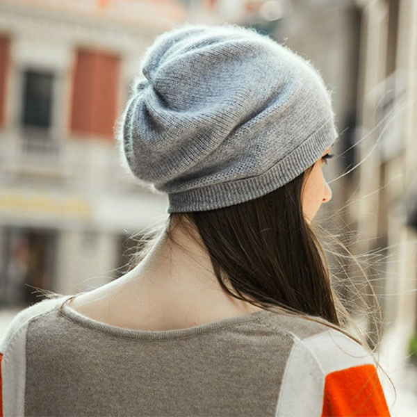 Cashmere Wool Beanie for Women