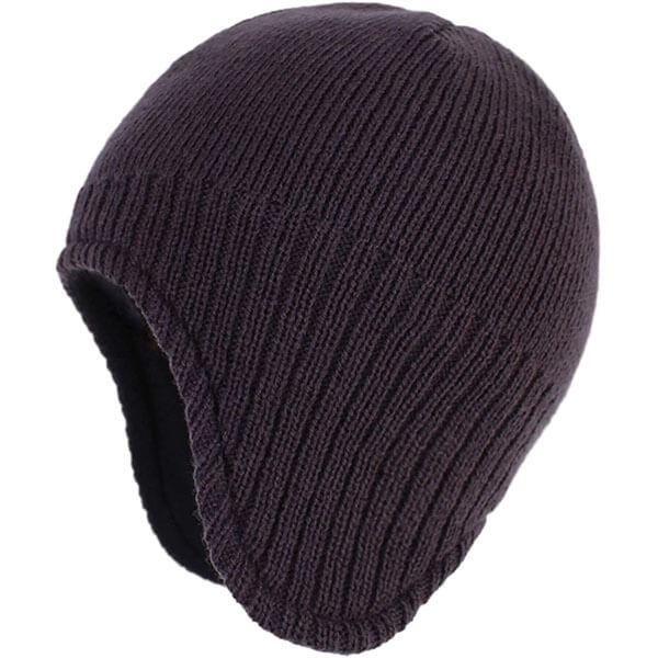 Men's Fleece-Lined Earflap Beanie
