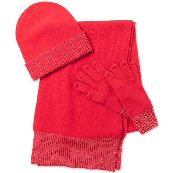 Cashmere Winter Hat Glove And Scarf Set For Women