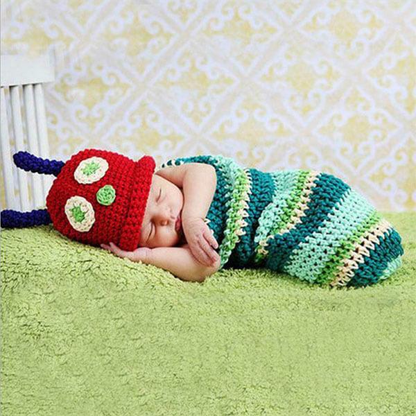 Newborn Crotchet Beanie Outfit