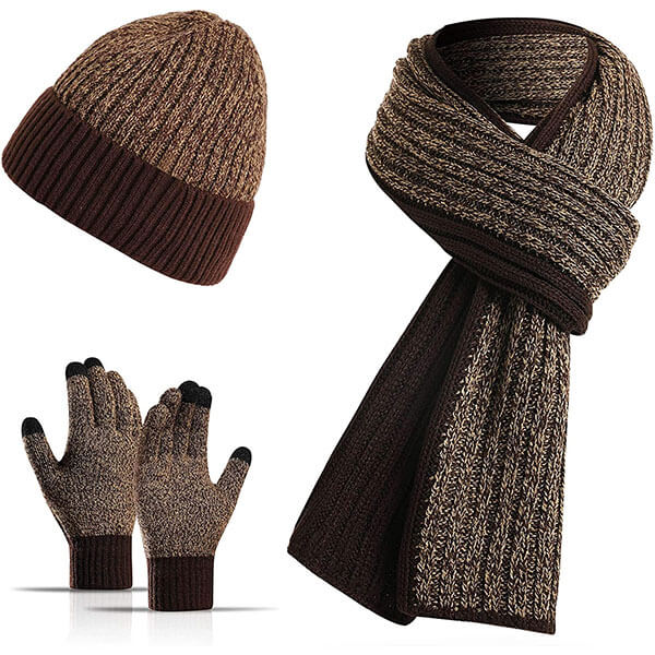 Two-Toned winter beanie set