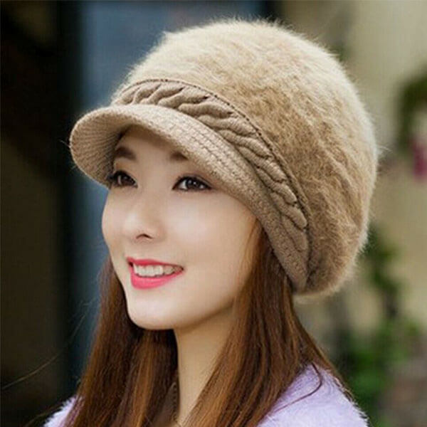 Baggy Beanie Hat With Cashmere Blend