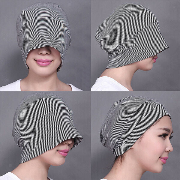Cotton Stretch Eye Cover Night Beanie
