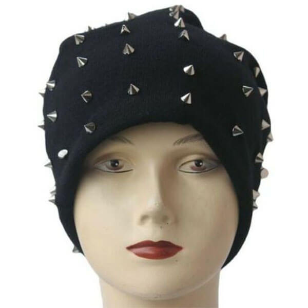 Hip Hop Style Riveted Baggy Beanie Hat