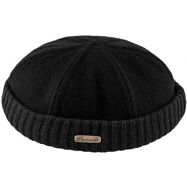 Navy Watch Wool Fisherman Beanie