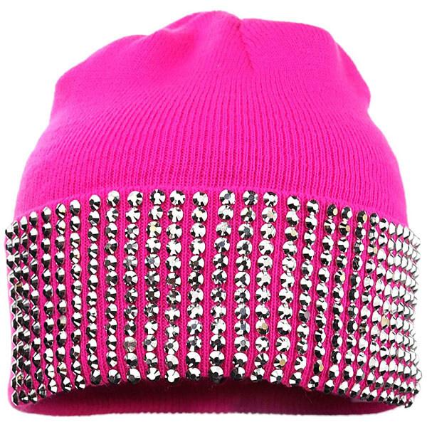 Rhinestone Studded Winter Ski Cap