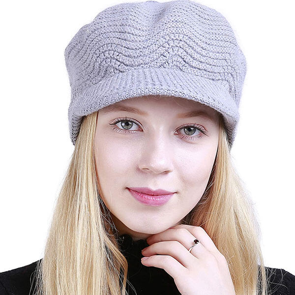 Warm Slouchy Cable Knit Beanie