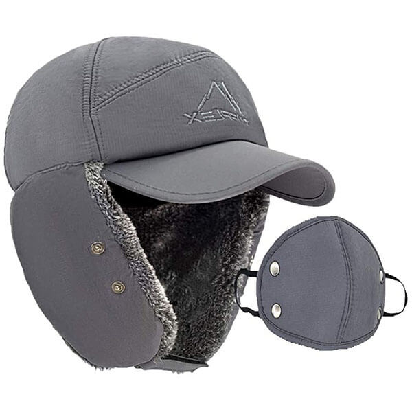 Warm Winter Cap With Earflaps For Men