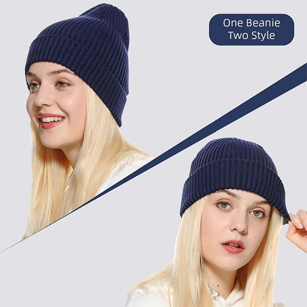 Regular Cuff Knit Fisherman Beanie