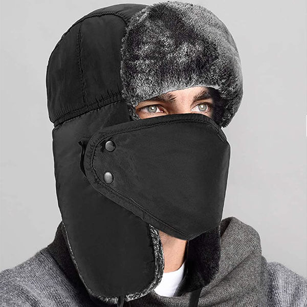 Ushanka Trapper Winter Cap With Ear Flaps For Men