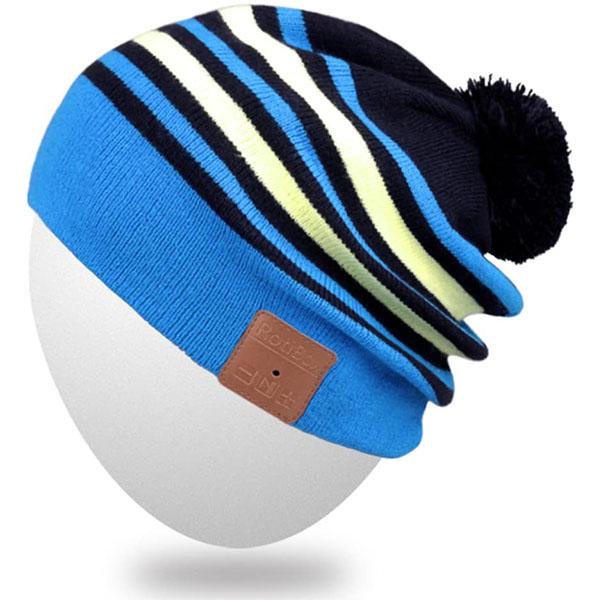 Bluetooth Beanie Hat with Pom Pom for Men