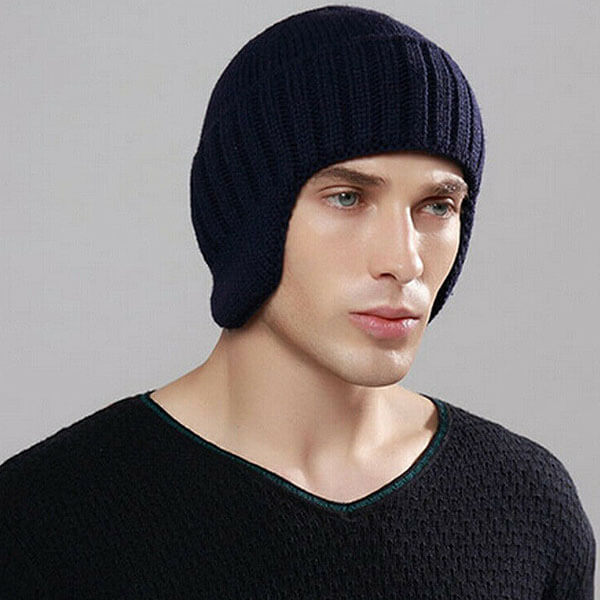 Stretch beanie with Ear Flaps for Men and Women
