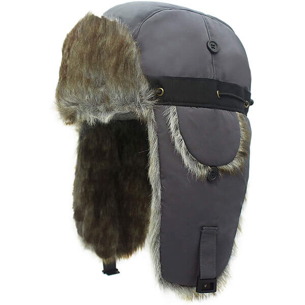 Windproof Men's Winter Hunting Hat With Earflaps