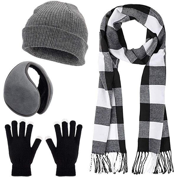 Men's Knitted Winter Warmer Set For Outdoor Activities