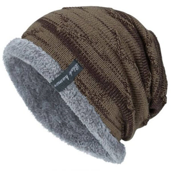 Slouchy Beanie Hat with Fleece Lining