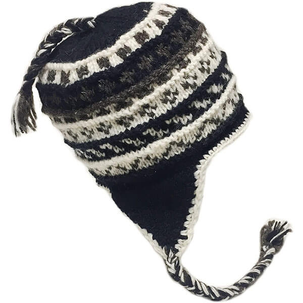 Wool Winter Beanie For Men With Ear Flaps