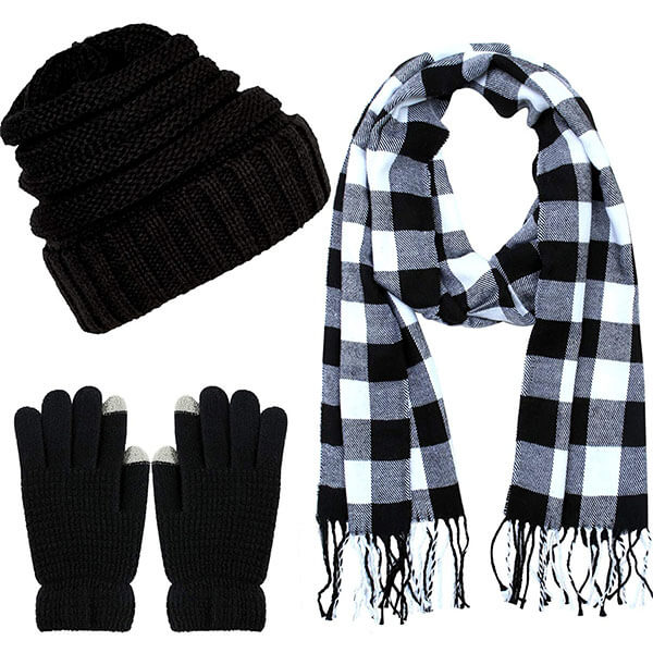 Soft Stretch Hat, Scarf, And Glove Set