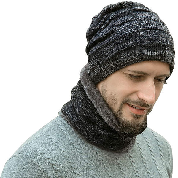Thick Fleece Lined Winter Hat Beanie