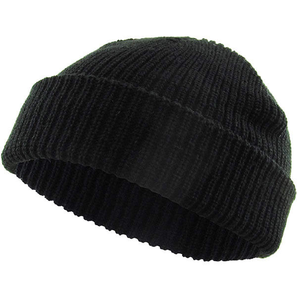 Acrylic Ribbed Knit Cuff Winter Hats