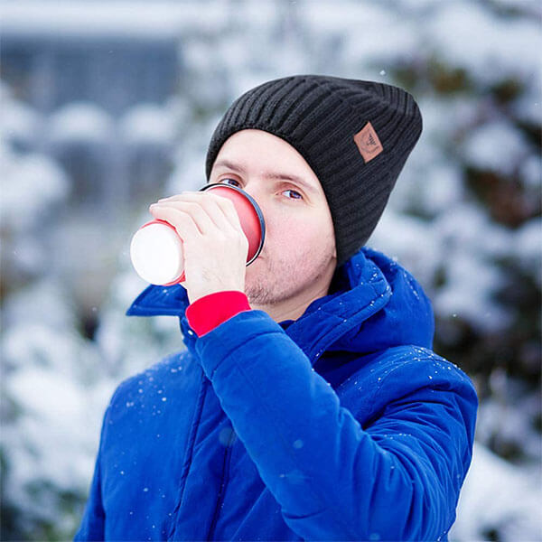 Cold Weather Windproof Thermal Knit Hat