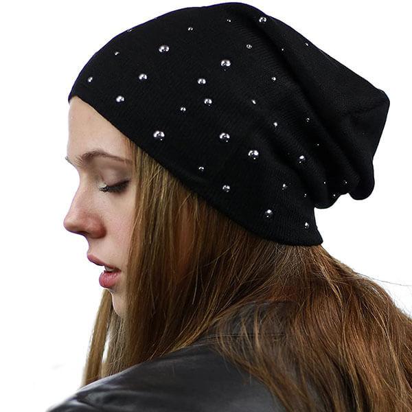 Cotton Warm Slouchy Beanie Hat