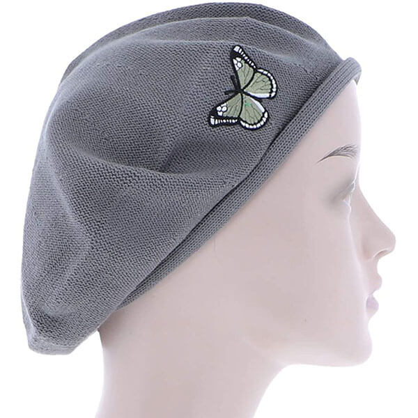 Green Butterfly On Beret for Women
