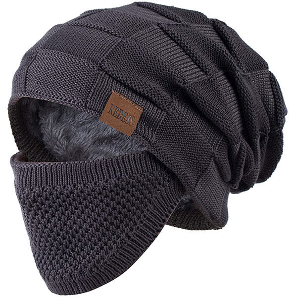 Thick Knit Beanie and Mask Combo Set