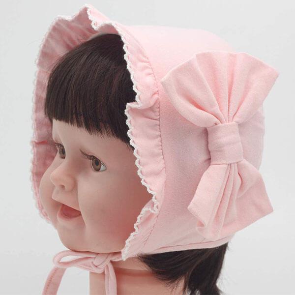 Floral Bonnet Beanie Hat
