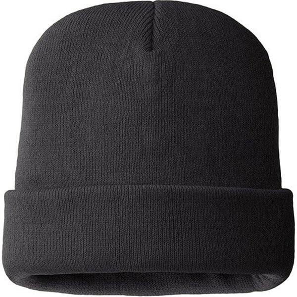 Adult Black Premium Winter Thinsulate Beanie Hat