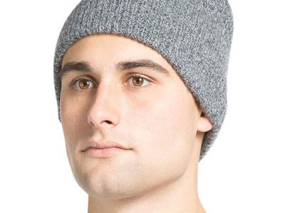 Fishers Finery Ribbed Cuffed Beanie Hat