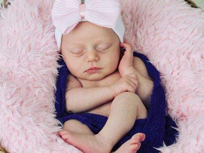 Headwrap Hat for Newborn Girl