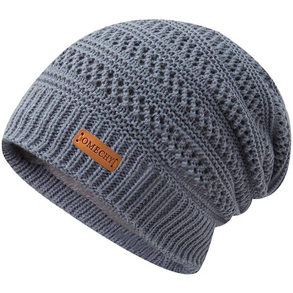 Knit Plain Beanie for Men and Women