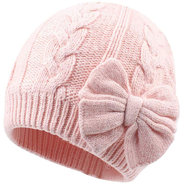 Knitted Beanie Hat for Girls