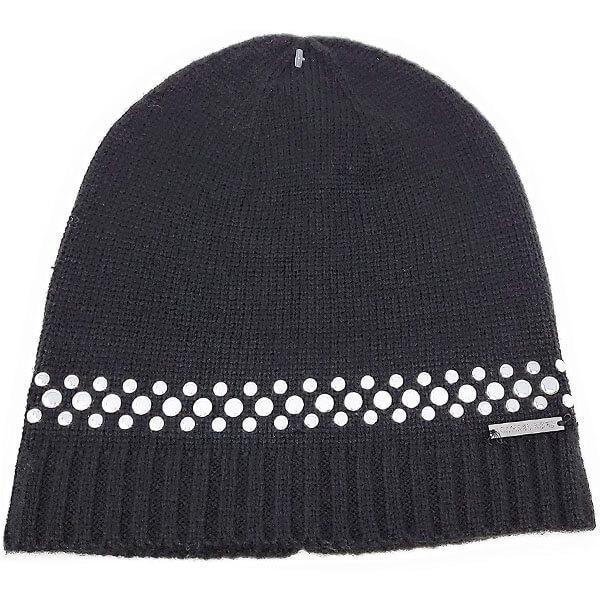 Women's Studded Knit Beanie Hat