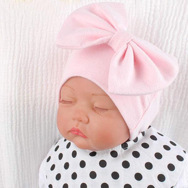 Cotton Beanie Hat for Newborn Baby Girl