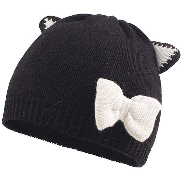 Cotton Lined Knit Beanie Hat