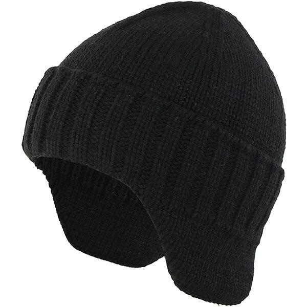 Warm Knit Earflap Beanie For Men