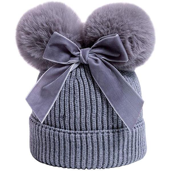 Double Pom-Pom Beanie Hat