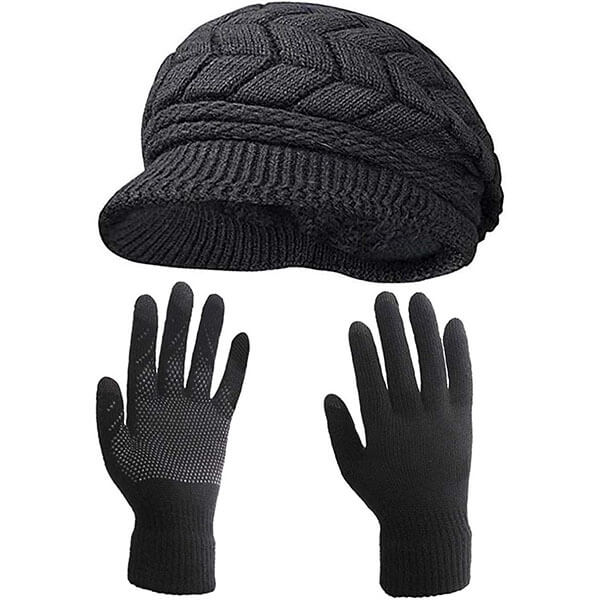 Newsboy Beanie With Gloves