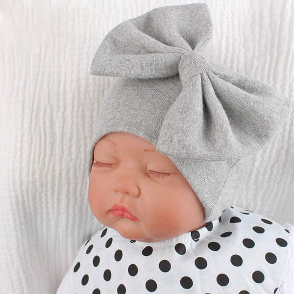Beanie Hat with Bow for Girls
