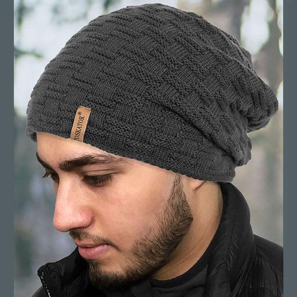 Teddy Fur Slouch Beanie Hat