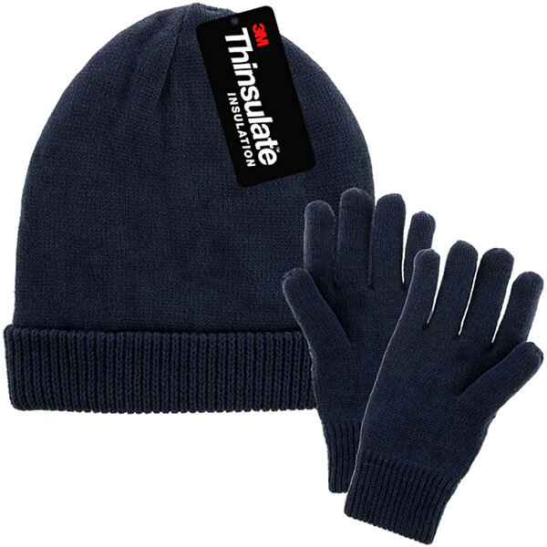 Thinsulate Fleece Lined Mens Winter Hats And Gloves