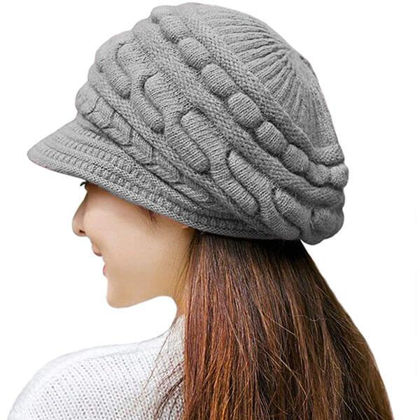 Winter Hat with Brim