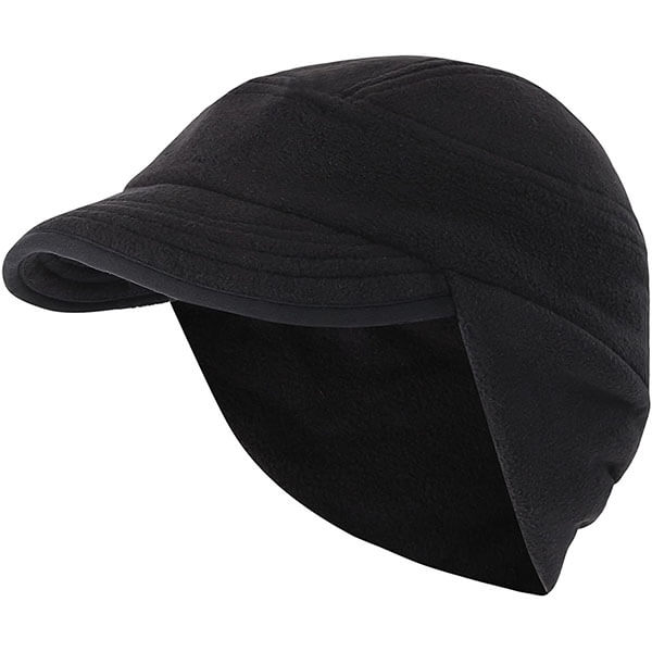 Winter Skull Cap With Earflaps And Visor
