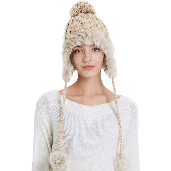 Fleece Ear Flaps Beanie
