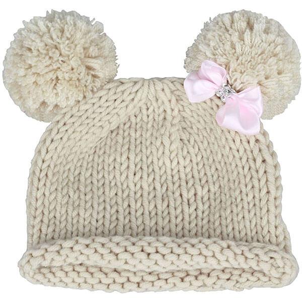 Knitted Pom-Pom Beanie Hat