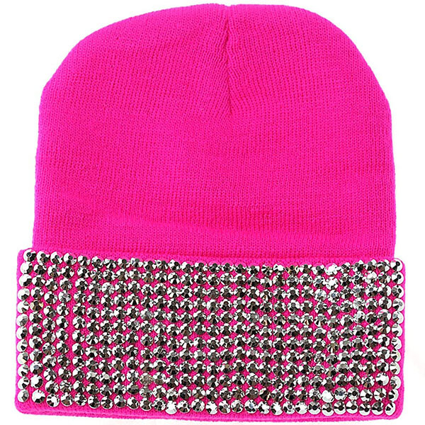 Rhinestone Studded Winter Warm Hat