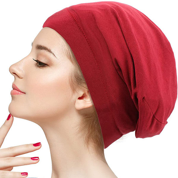 Satin Lined Cotton Sleep Cap